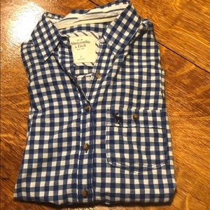 Abercrombie and Fitch Women's Gingham Button-Up